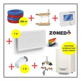 Pack Installation complet GAZ / Radiateurs / Eau chaude sanitaire