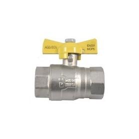 Vanne gaz papillon FF - Section de tuyauterie au choix