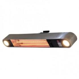 Chauffage de terrasse mural ou plafonnier avec éclairage Qlima - Puissance au choix / Télécommande optionnelle