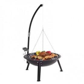 Brasero-Barbecue Qlima - FFGW4068 - Charbon ou Bois - Grille Bbq fournie à suspendre