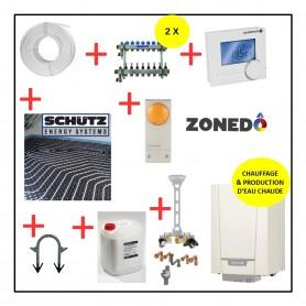 Pack Installation complet GAZ / Chauffage par le SOL