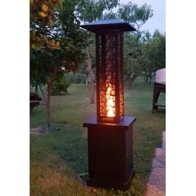 Chauffage de terrasse à pellets - Rubino - Sans électricité