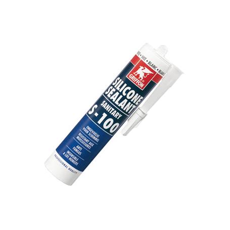Cartouche silicone sanitaire - Silicone Blanc ou transparent au choix